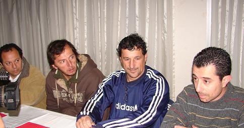 Referentes de Atlético en la conferencia de prensa.