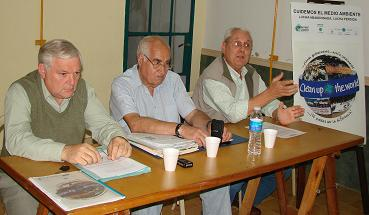 Bacteriólogo Daniel Pensa, Arq. Ricardo Luna, Dr. Carlos Pinciroli.