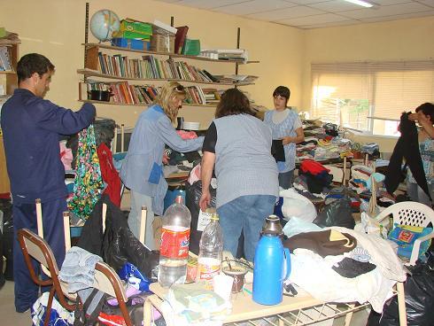 Concentraron ropa y mercaderías en el Centro Comunitario Martín  D. Callegaro