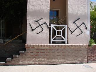 Signos de intolerancia y de racismo.