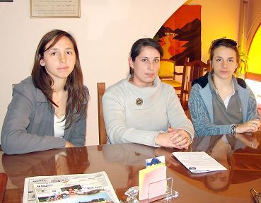 Yesica Guiotto, Celeste Scapacino y Gisela Guiotto.