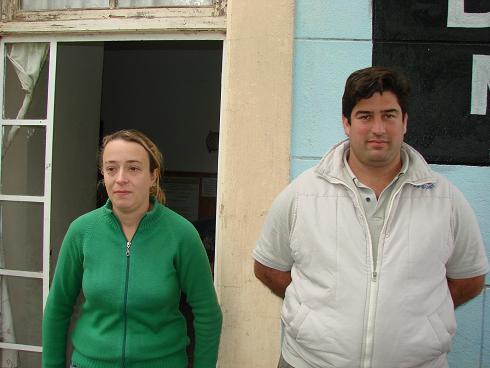 Viviana Rebuffi y Abel Balda.