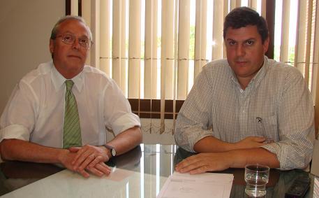Asesor Legal Dr. Ernesto Horcada y Gerente Lic. Federico Raineri.