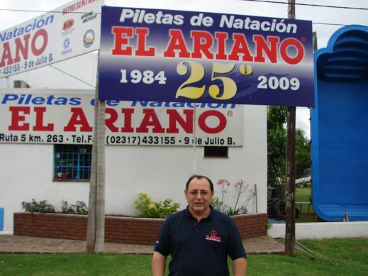 Rubén Picardo en el frente de El Ariano.