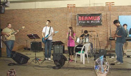 Seamus, una de las bandas que se presentaron en el festival.
