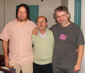 Marcos Galvani, Julio Lacarra y Fernando Pisano.
