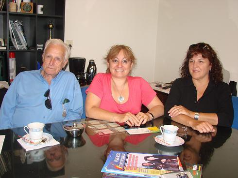 Jorge Capodiferro (Secretario), Cristina Villagra (Vicepresidenta), Carmen Castagnino (consejera).